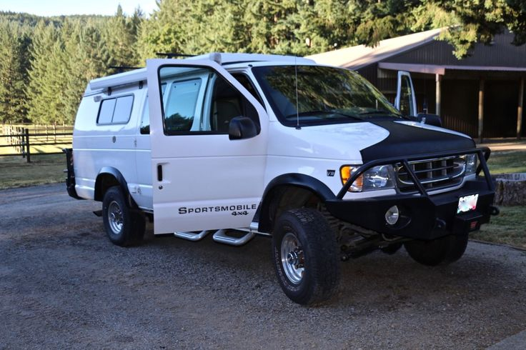 2000 Ford E-Series Van Hard Core Off Road Bumpers portmobile 2000 4X4 E350 Ford Van. Like New Inside/Out 7.3 Diesel