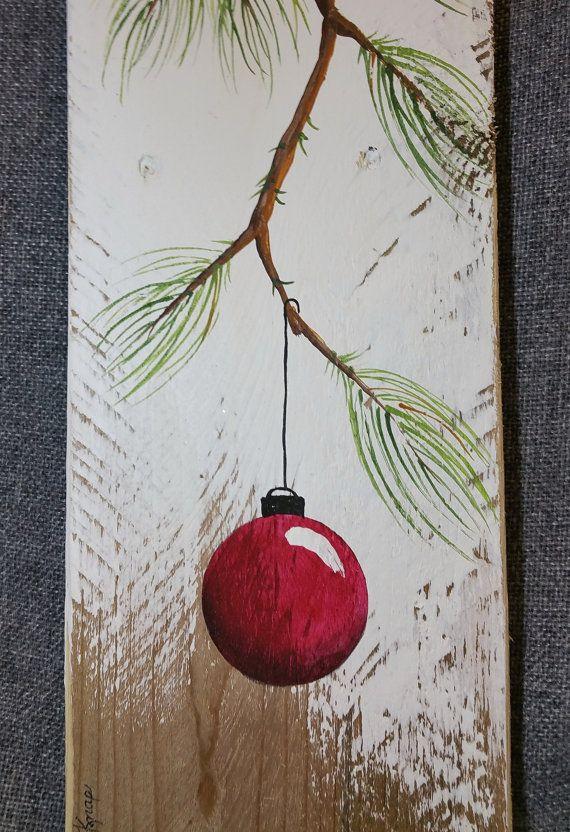 Dipinti a mano rosso decorazione di Natale regalo ramo di