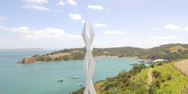 Wild weather has not stopped one of New Zealand's biggest outdoor sculpture events from opening on schedule on Waiheke Island. - New Zealand Herald - from anniversary weekend to 19 February
