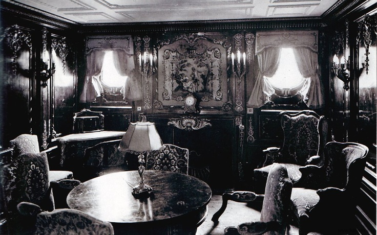 Privado de camarote imperial del Titanic - Primera claseTitanic Pictures In Colors, Beautiful Rms,  Eatery, 1St Class, Rms Titanic, Class Suits, Sitting Room, Class Titanic, Class Regency