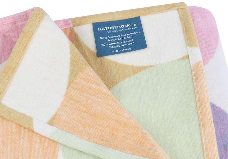 Wohndecke Jacquard 100% Baumwolle (kbA) Modell STELLA 140 x 200 cm | Made in Germany | NATUREHOME