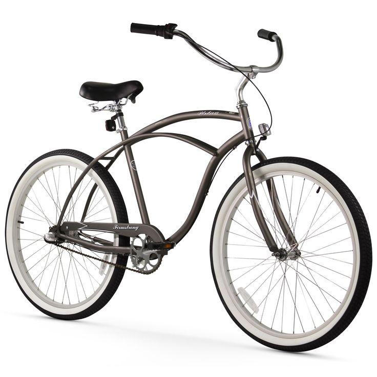 """26"""" Firmstrong Urban Man Seven Speed Beach Cruiser Bicycle, Matte"""