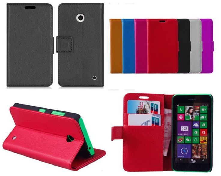 >> Click to Buy << Brand New for Nokia Lumia 630 Lychee PU Leather Wallet case,stand cover with credit card slots #Affiliate