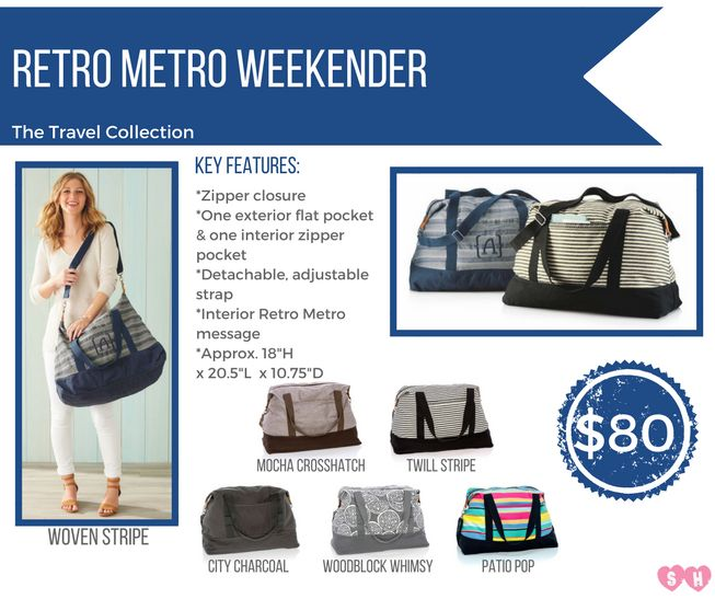 Travel in Thirty-One style with these coordinated fashion travel bags and accessory pieces!
