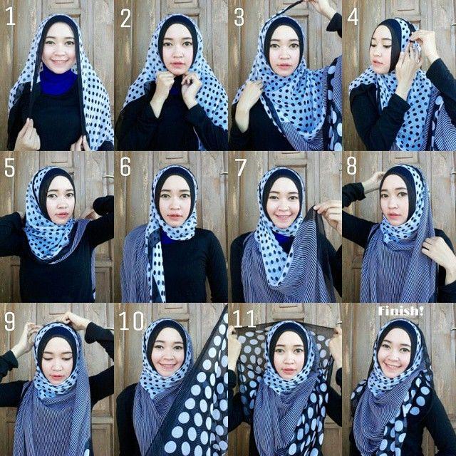 Gorgeous Polka Dots Hijab Tutorial
