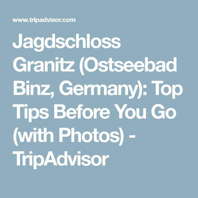 Jagdschloss Granitz (Ostseebad Binz, Germany): Top Tips Before You Go (with Photos) - TripAdvisor