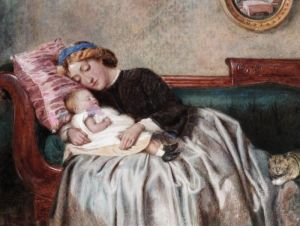 Mother and Child - George Goodwin Kilburne - The Athenaeum