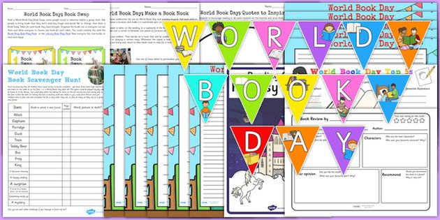 * NEW * Top 10 World Book Day Resource Pack
