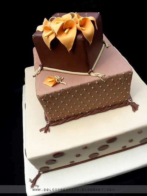 1000 Images About Brown Amp Gold Wedding Cakes On Pinterest