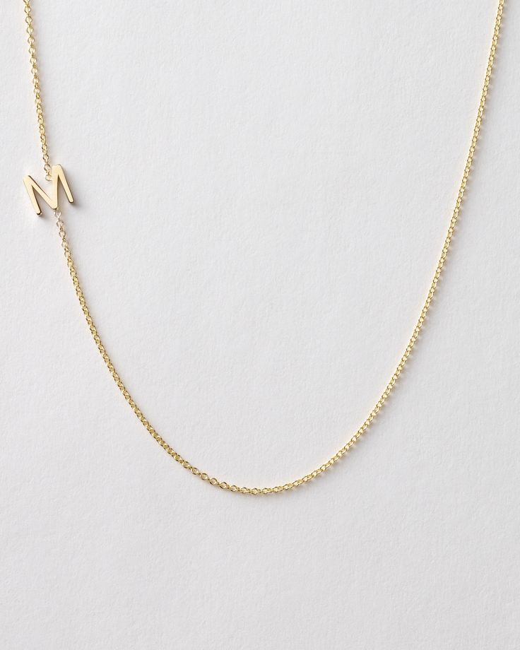 This 14k-gold letter necklace lends a lovely personal touch for the maid-of-honor or small bridal parties.    Maya Brenner Initial Necklace, $240,MayaBrenner.com.