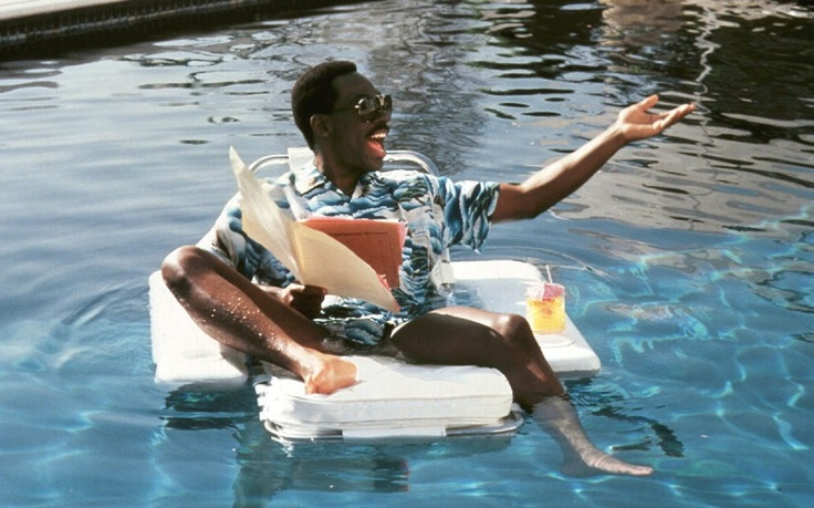 """Eddie Murphy - Beverly Hills Cop II. """"Get your mad ass in this pool!"""""""