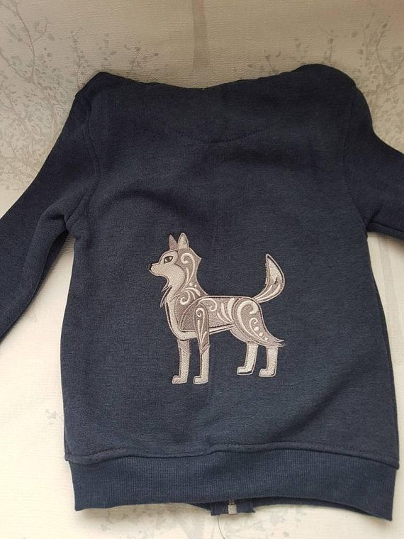Check out this item in my Etsy shop https://www.etsy.com/uk/listing/587768150/grey-wolf-jacket-wolf-embroidered-hoody