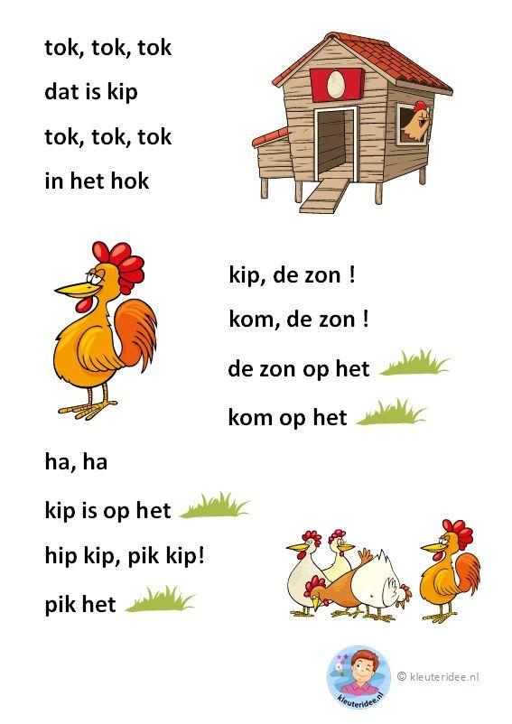 tok, tok, tok, verhaaltje voor kleuters die beginnen te lezen, AVI-start, free printable