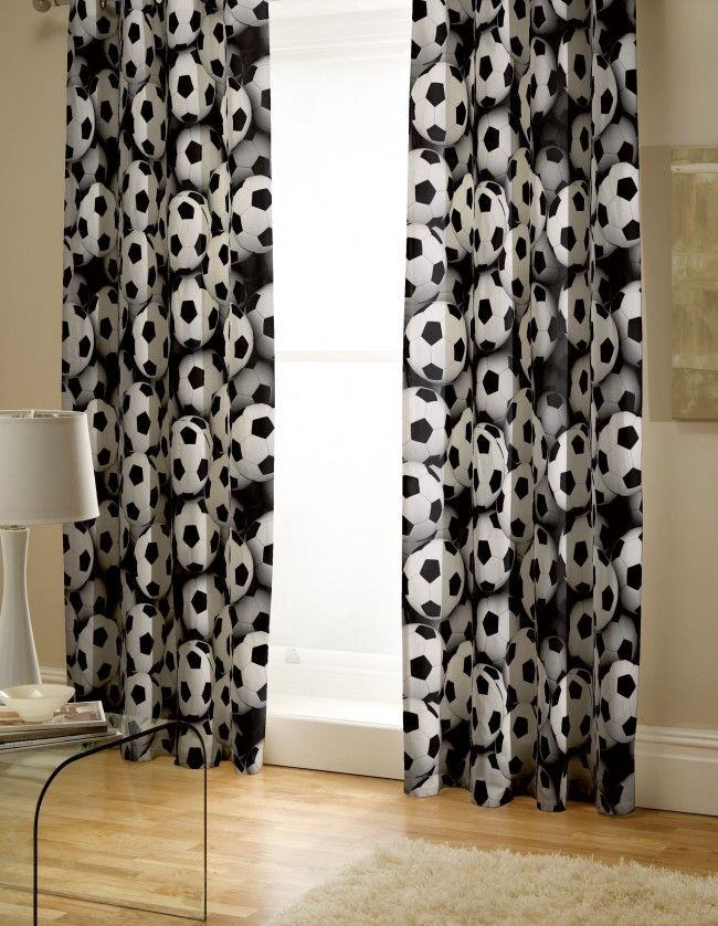 World Cup Bedding - It's A Goal Football Curtains