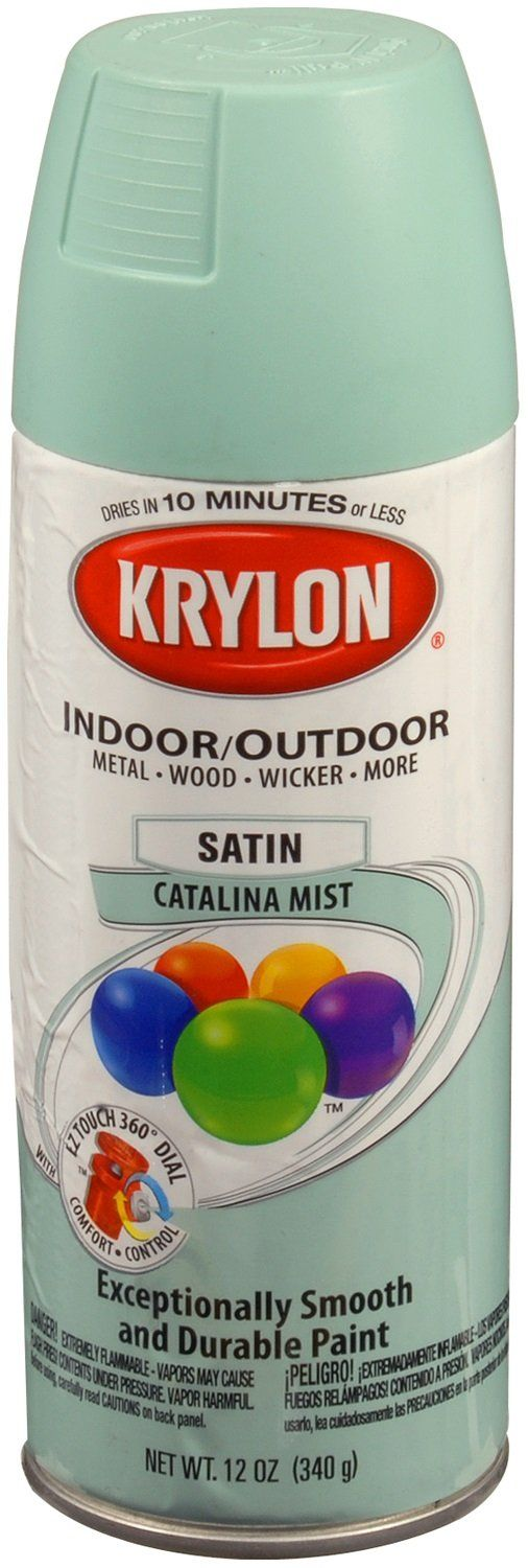 mint mirror makeover » Lolly Jane What color is this? Krylon 'Catalina Mist'  It's the closest match to mint we could find….and we went to 3 stores.  Walmart had it.  Always check WM first, seriously.  Or Amazon if you like online shopping (;