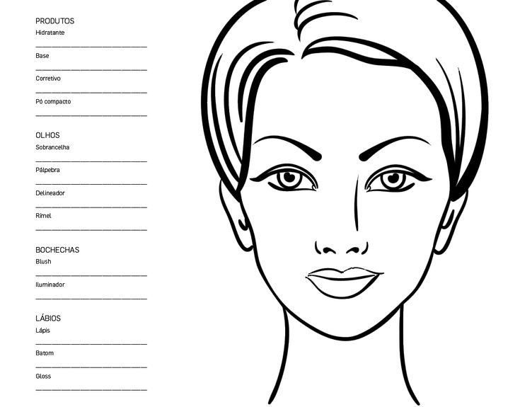21 best face chart images on pinterest