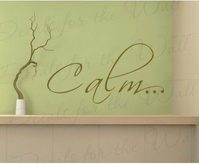 calm wall decal quote bathroom