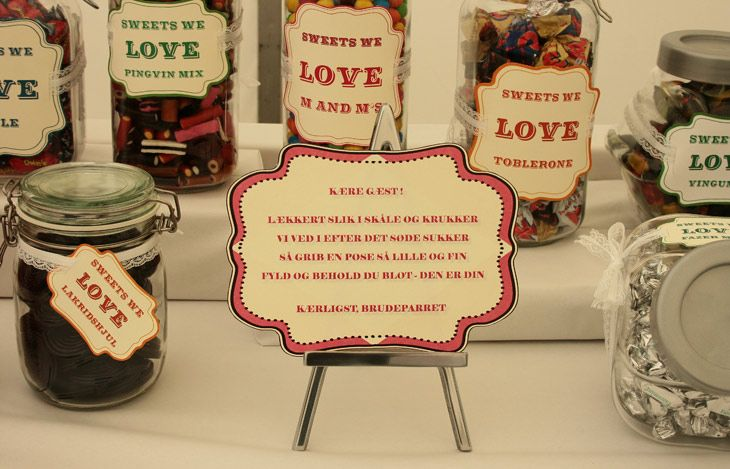 candy for the guests to bring home - perhaps to the day after headache and craving :)