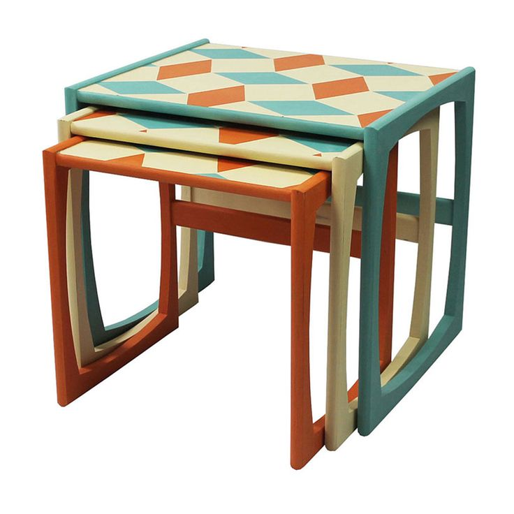 G Plan Quadrille Nest Of Tables | FurnitureEtc