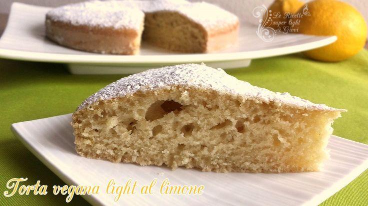 Torta vegana light al limone (133 calorie a fetta) | Le Ricette Super Light Di Giovi