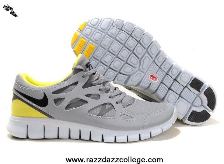 472519-007 Shield Yellow Grey Nike Free Run 2 Womens