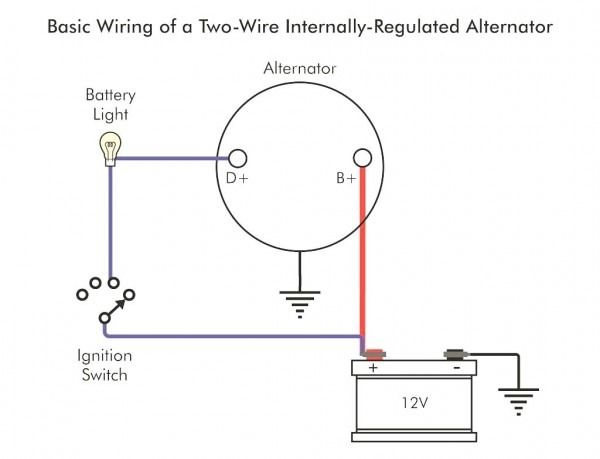 1 Wire Alternator Wiring Diagram Alternator Voltage Regulator
