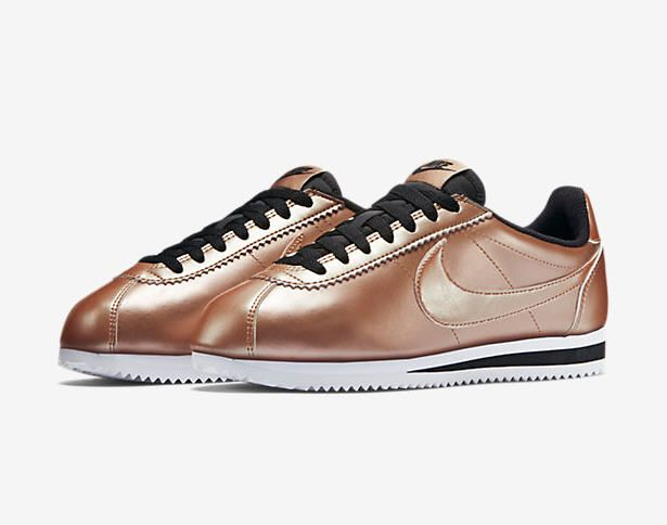 more photos fe375 855db nike classic cortez leather metallic red bronze