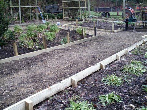 Log Garden Edging
