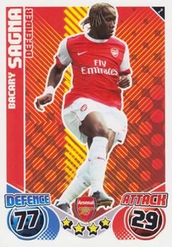 2010-11 Topps Premier League Match Attax #2 Bacary Sagna Front