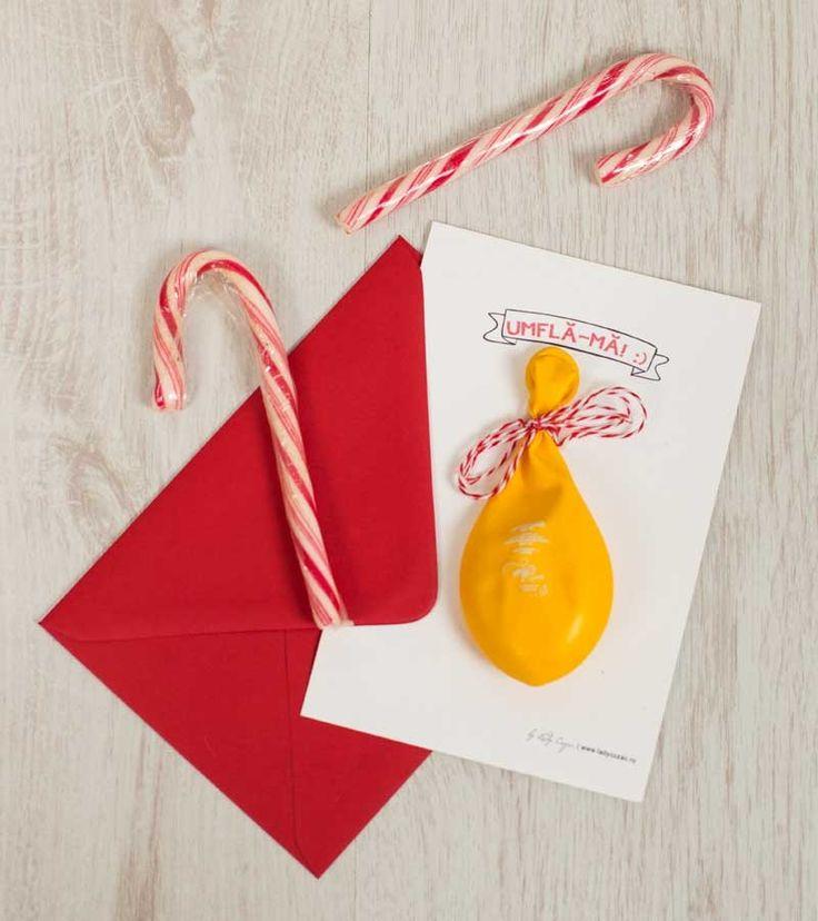 Invitatie de botez - Happy Baloons