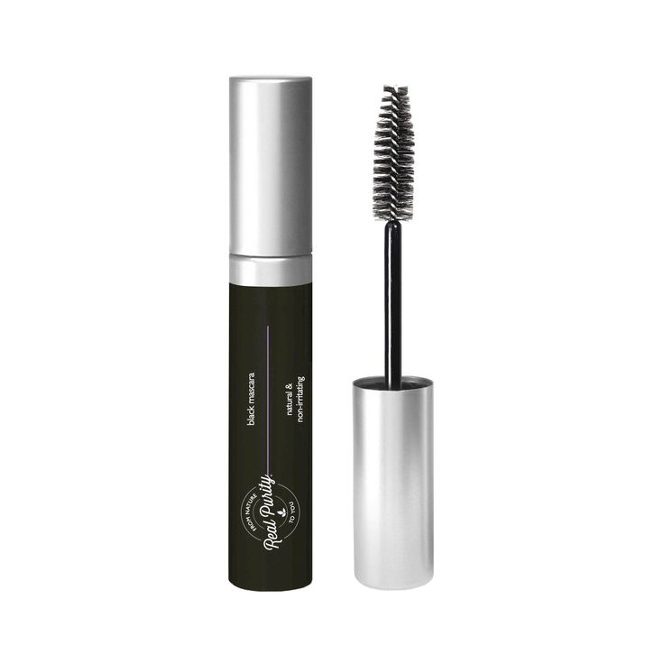 Go bold with natural beauty! Define, darken and lengthen lashes with Real Purity Mascara, an 8-ingredient, paraben-free formula designed for easily irritated eyes. Candellila wax and kosher vegetable glycerin minimize eye irritation and clumping, while organic sage and ivy extracts strengthen lashes and encourage growth. Real Purity Mascaras use micronized mineral particles to provide a smooth, lightweight application and are coated in Pycnogenol, a premiere antioxidant (derived from pine…