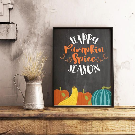 Celebrate the Fall season with this beautiful pumpkin spice sign. This fall wall art would make a great housewarming gift, or to add a touch of Fall to your own home. Digital prints are a great way to decorate for the seasons without breaking the bank. No printer, no problem, just send the file to your local photo lab.  Click on photo to get yours today.