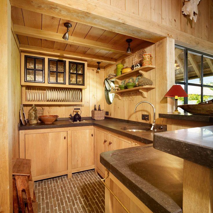 Keuken Eikenhout : ingebouwde keuken eikenhout en natuursteen