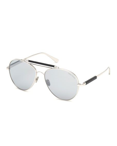 14bcbd7adcfc8 TOM FORD MEN S METAL AVIATOR SUNGLASSES WITH MIRRORED PHOTOCHROMIC LENSES.   tomford