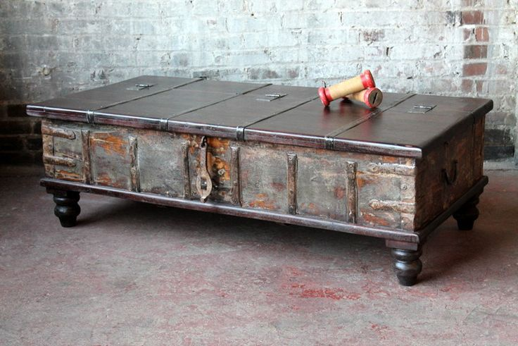17 best images about trunks and boxes on pinterest vintage luggage blanket chest and wood trunk Indian trunk coffee table