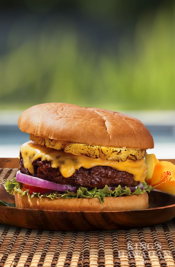 A juicy hamburger covered in melted cheese and sweet pineapple with a wonderful Shichimi Aioli. It's not your average hamburger!