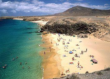 Playa papagayo Lanzarote.