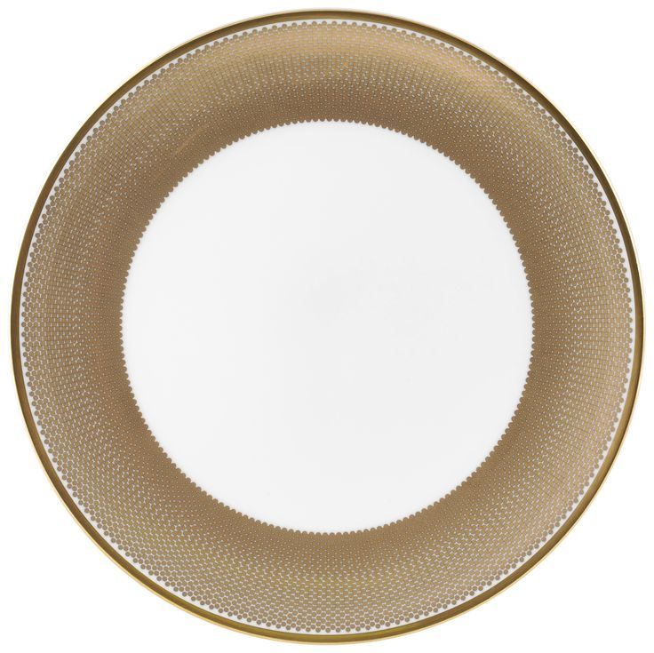 """8"""" 'Benday Gold' Cake Plate for all those sweet treats. Complimented with 22kt Gold rims and accents, this luxury range provides a touch of class and elegance. Hand made in Stoke-on-Trent, England, this collection is inspired by Benjamin Day: 'our homage to the dot'. 8"""" Cake Plate can be used for cakes, desserts and other sweet treats. Handwash Only, Fine Bone China. Find out more here: https://thenewenglish.co.uk/collections/benday-gold #TheNewEnglish #Benday #Gold"""