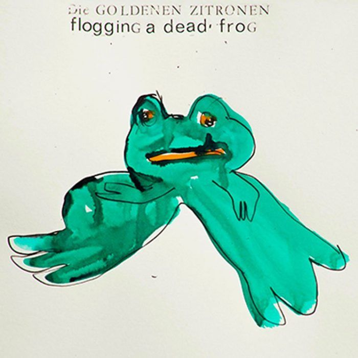 Experimental German punks Die Goldenen Zitronen have their 11th album ready. The LP is called 'Flogging a Dead Frog' and can be streamed after the jump.