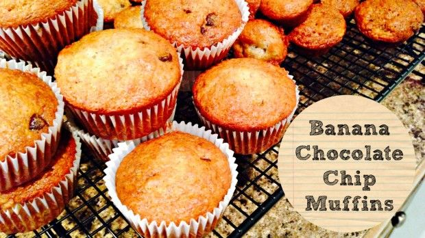 Banana Chocolate Chip Muffins are a big hit in our house. This easy recipe is perfect as an after school snack or as a lunch box treat!