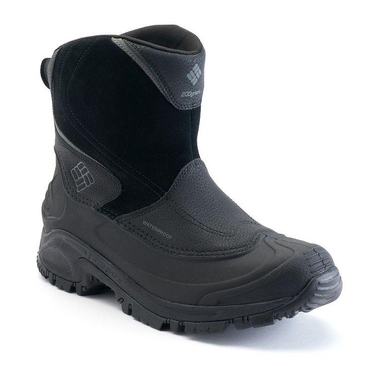 Columbia Bugaboot II Slip Men's Waterproof Winter Boots, Size: 12, Grey (Charcoal)