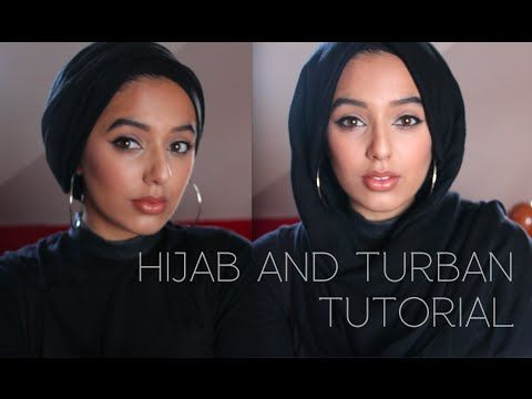 Hijab and Turban Tutorial   Simple and quick hijab styles using no pins! - YouTube