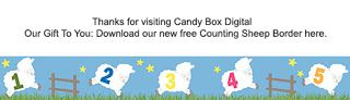 What's in the Candy Box: And a Sleepy Sheep Border Clip Art Freebie!