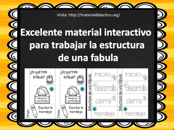 Hola compañeros maestros y maestras, compartimos con ustedes este excelente material interactivo para trabajar la estructura de una fabula esperamos