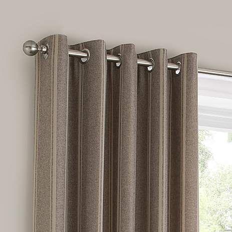 Natural Harper Lined Eyelet Curtains | Dunelm