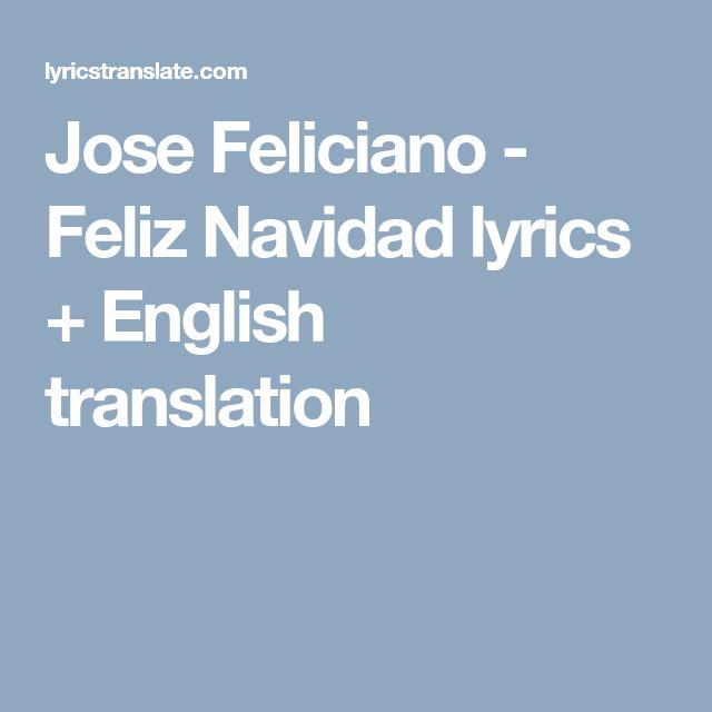 Jose Feliciano - Feliz Navidad lyrics + English translation
