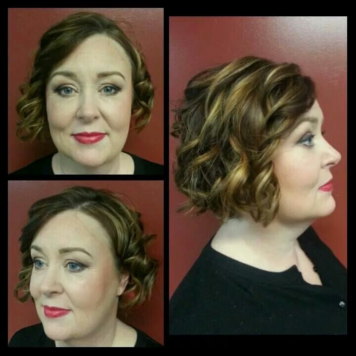 Hairstyle by Katie, makeup by Hilliary