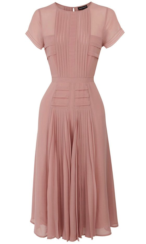 Warehouse Blush Pink Dress