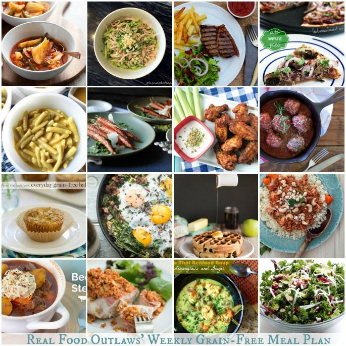 Grain-Free Weekly Meal Plan 1/26 - 2/1
