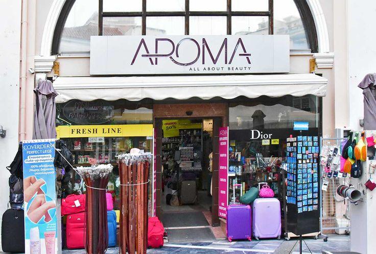 Aroma: Προϊόντα καθημερινής φροντίδας στο κέντρο της Σάμου. Θα βρείτε προσφορές σε όλα τα επώνυμα αρώματα, καλλυντικά και σε προϊόντα καθημερινής φροντίδας.
